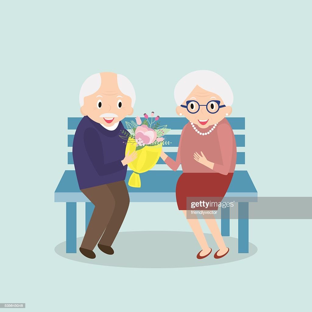 Old couple together. Seniors happy leisure.