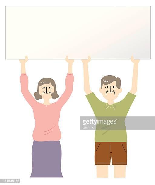 旧のカップル - 年配のカップル点のイラスト素材/クリップアート素材/マンガ素材/アイコン素材