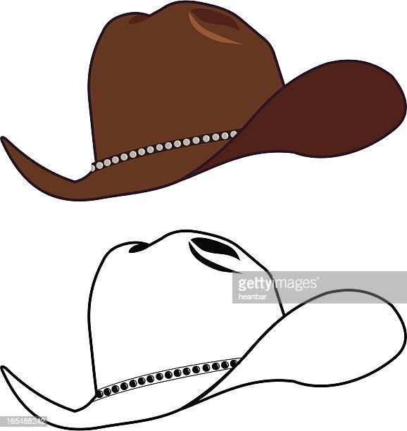 old cowboy hat - cowboy hat stock illustrations, clip art, cartoons, & icons
