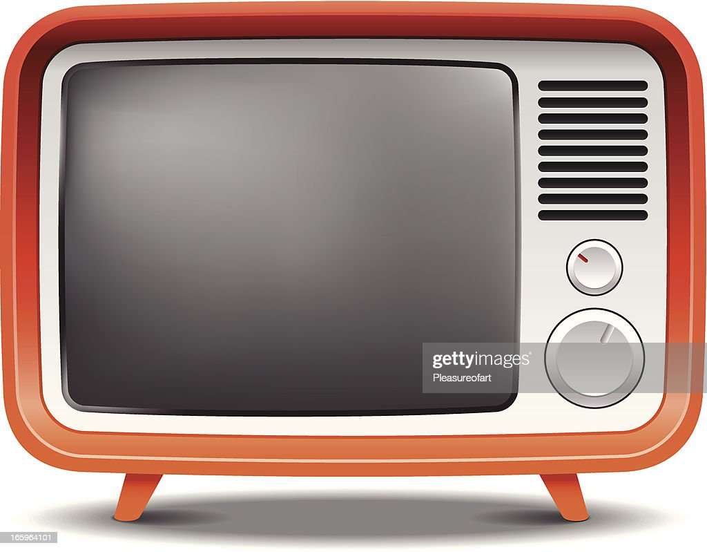 Old fashion retro tv set