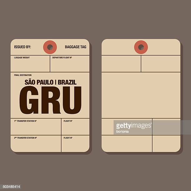 old fashioned airport luggage tag template - id card template stock illustrations