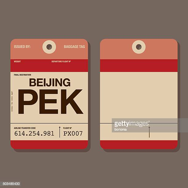 Luggage tag stock illustrations and cartoons getty images for Airline luggage tag template