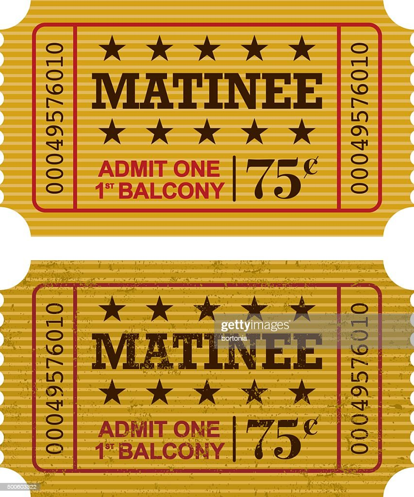 Old Fashioned Matinee Ticket Stub Icon