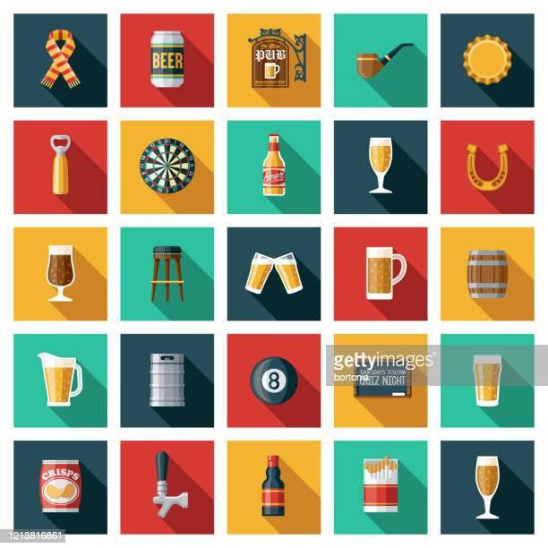 illustrations, cliparts, dessins animés et icônes de ensemble old fashioned pub icon - culture britannique