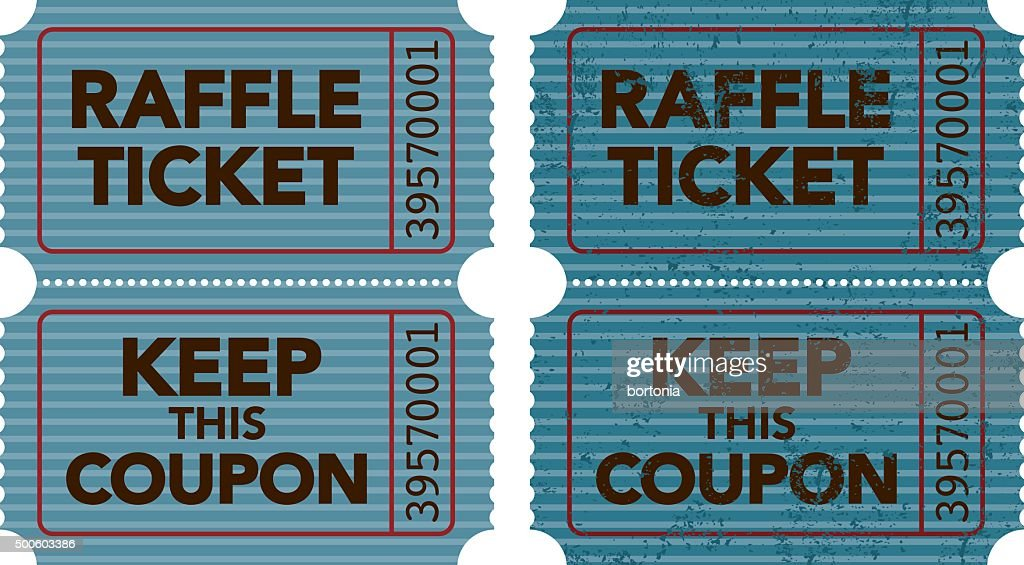 Old Fashioned Raffle Ticket Stub Icon