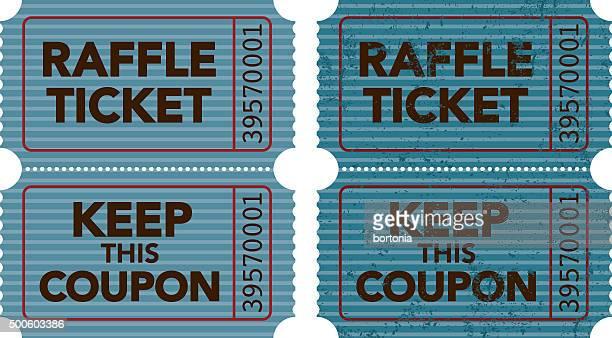 old fashioned raffle ticket stub icon - raffle stock illustrations