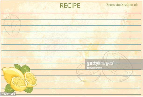 伝統的なレシピカードテンプレート-レモンズ - レシピ点のイラスト素材/クリップアート素材/マンガ素材/アイコン素材