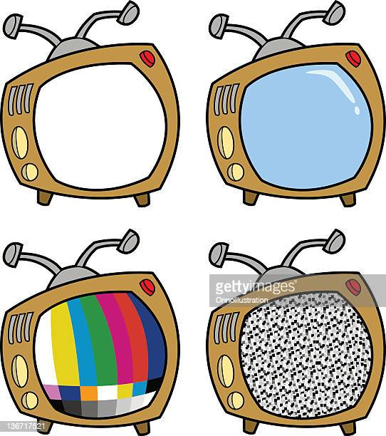 old fashioned television - television aerial stock illustrations, clip art, cartoons, & icons