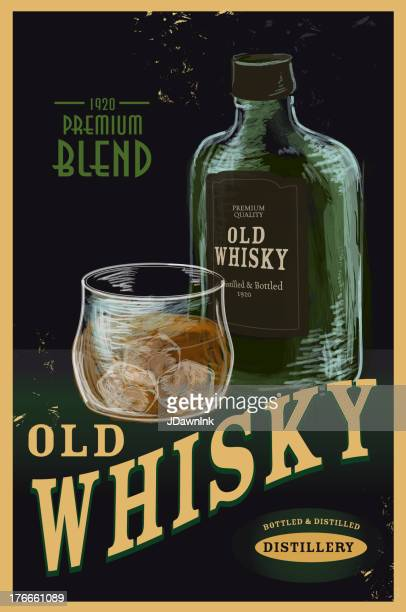 Old fashioned Whiskey Advertisement poster
