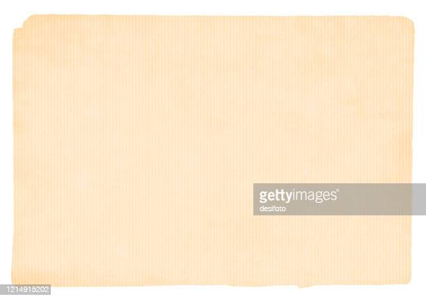 illustrazioni stock, clip art, cartoni animati e icone di tendenza di vecchio, sfilacciato beige colorato, a strisce, ondulato carta grunge aspetto sfondo - carta da pacchi