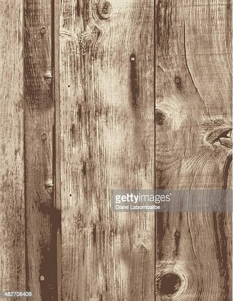 old grunge wood boards empty vertical planks - wood material stock illustrations
