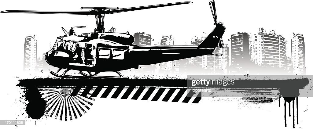 old helicopter landing