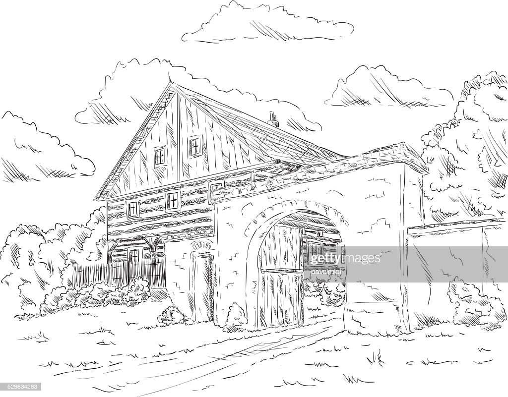 old house in village
