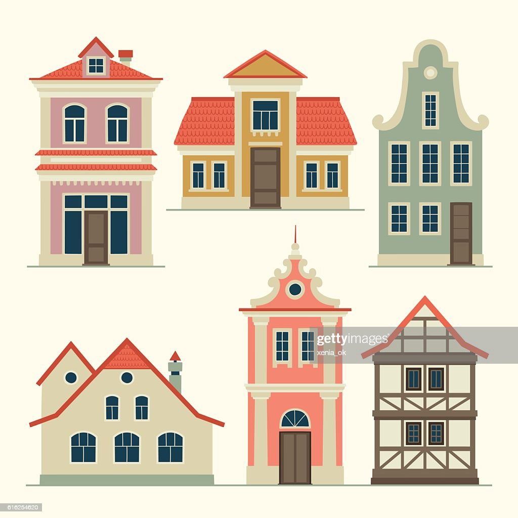 old houses : Vector Art