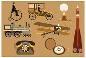 Old Inventions Vector set