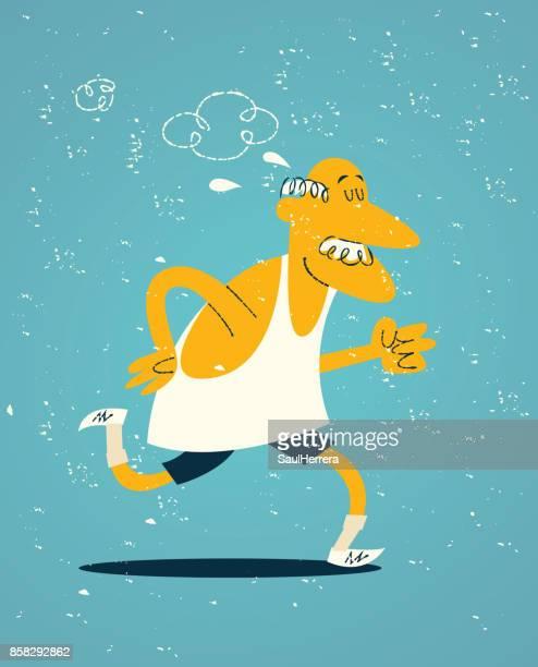 Old man exercising