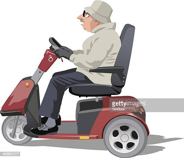 30 Top Mobility Scooter Stock Illustrations, Clip art