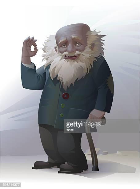 illustrations, cliparts, dessins animés et icônes de old homme - vagabond