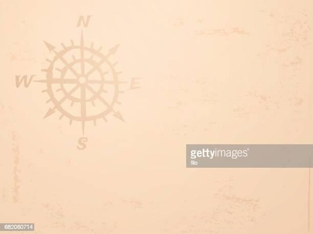 ilustraciones, imágenes clip art, dibujos animados e iconos de stock de antiguo mapa fondo brújula - mapa del tesoro