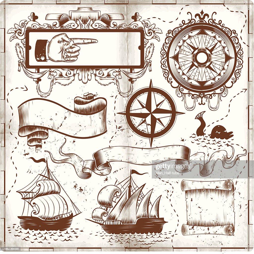 old map doodles
