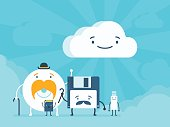 Old memory storages and cloud data service