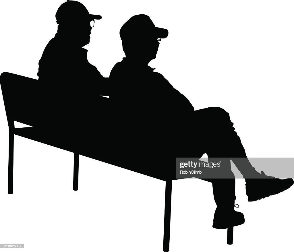 Bench Stock Illustrations And Cartoons | Getty Images for People On Bench Silhouette  166kxo