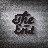 """Old movie ending screen, stylised noir """"The End"""" lettering"""