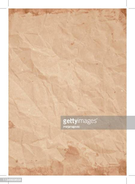 old paper texture background - folded stock illustrations