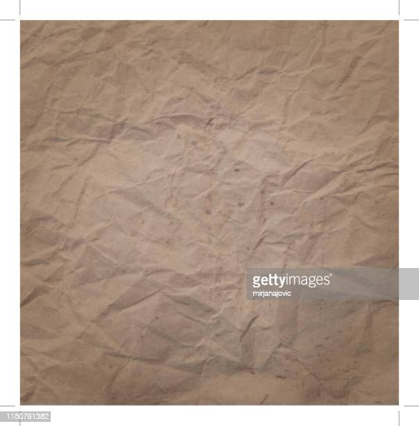 old paper texture background - crumpled stock illustrations