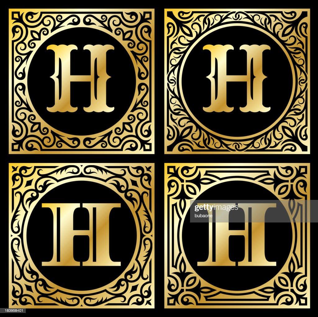 Old paper with decorative letter h vector art getty images old paper with decorative letter h vector art altavistaventures Choice Image