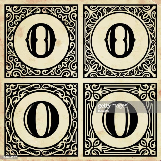 Old Paper with Decorative Letter O