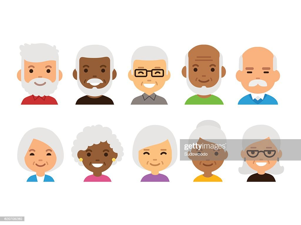 Old people avatars