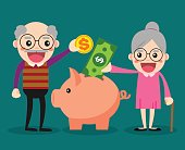 Old people keep their savings in the piggy bank