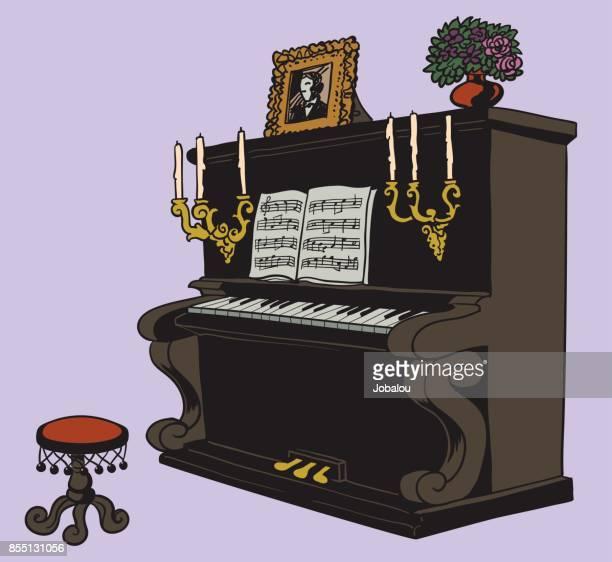 Altes Klavier Cartoon