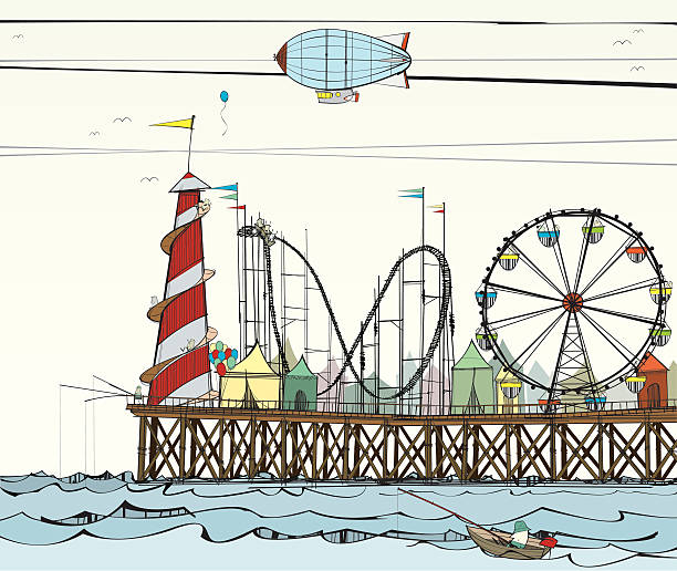 Old Pier with Fairground Attractions