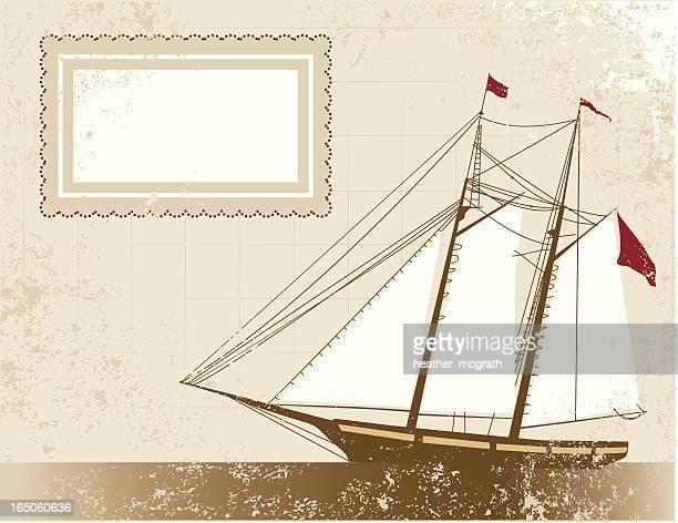 old pirate schooner - 17th century stock illustrations, clip art, cartoons, & icons
