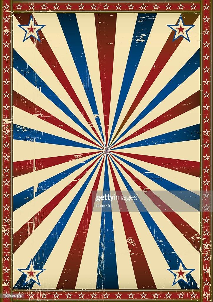 Old poster patriotic background