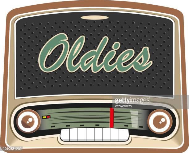ilustraciones, imágenes clip art, dibujos animados e iconos de stock de old de radio - resurgimiento neoclásico