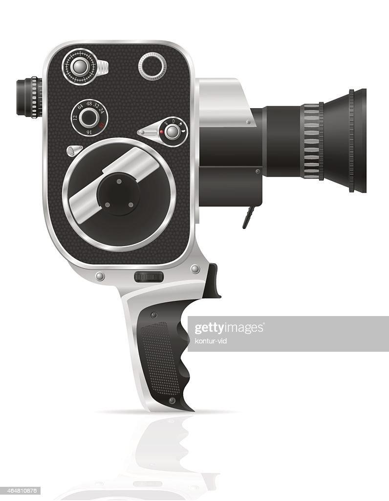 old retro vintage movie video camera vector illustration vector art