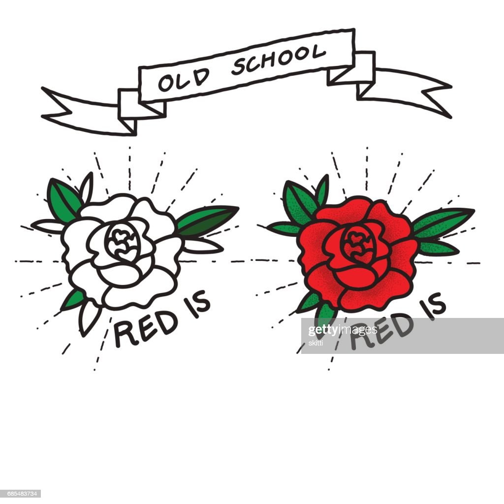 Old School Flower, Tattoo Style
