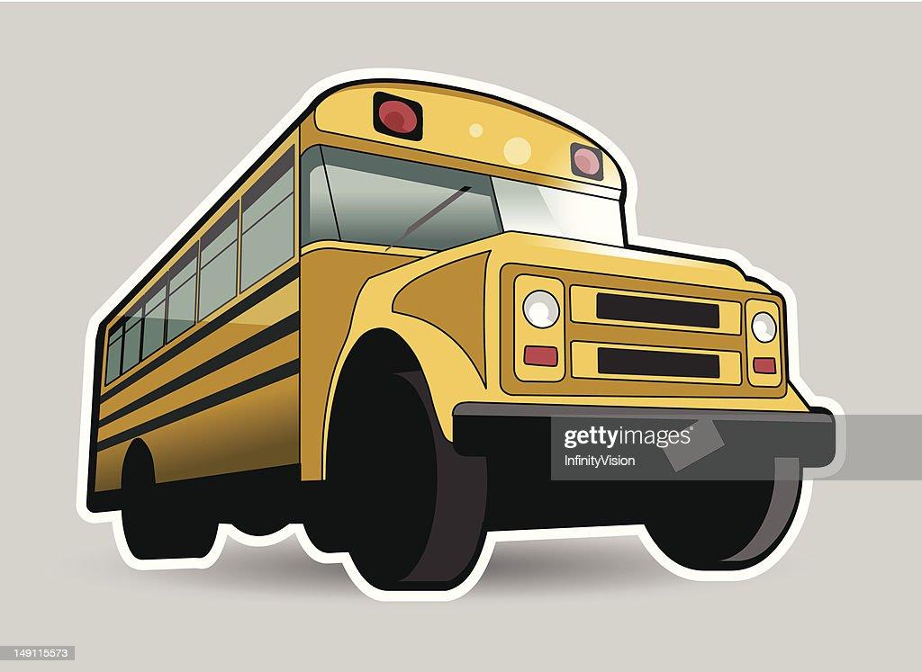 Old school yellow bus