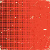 Old scratched card with halftone gradient