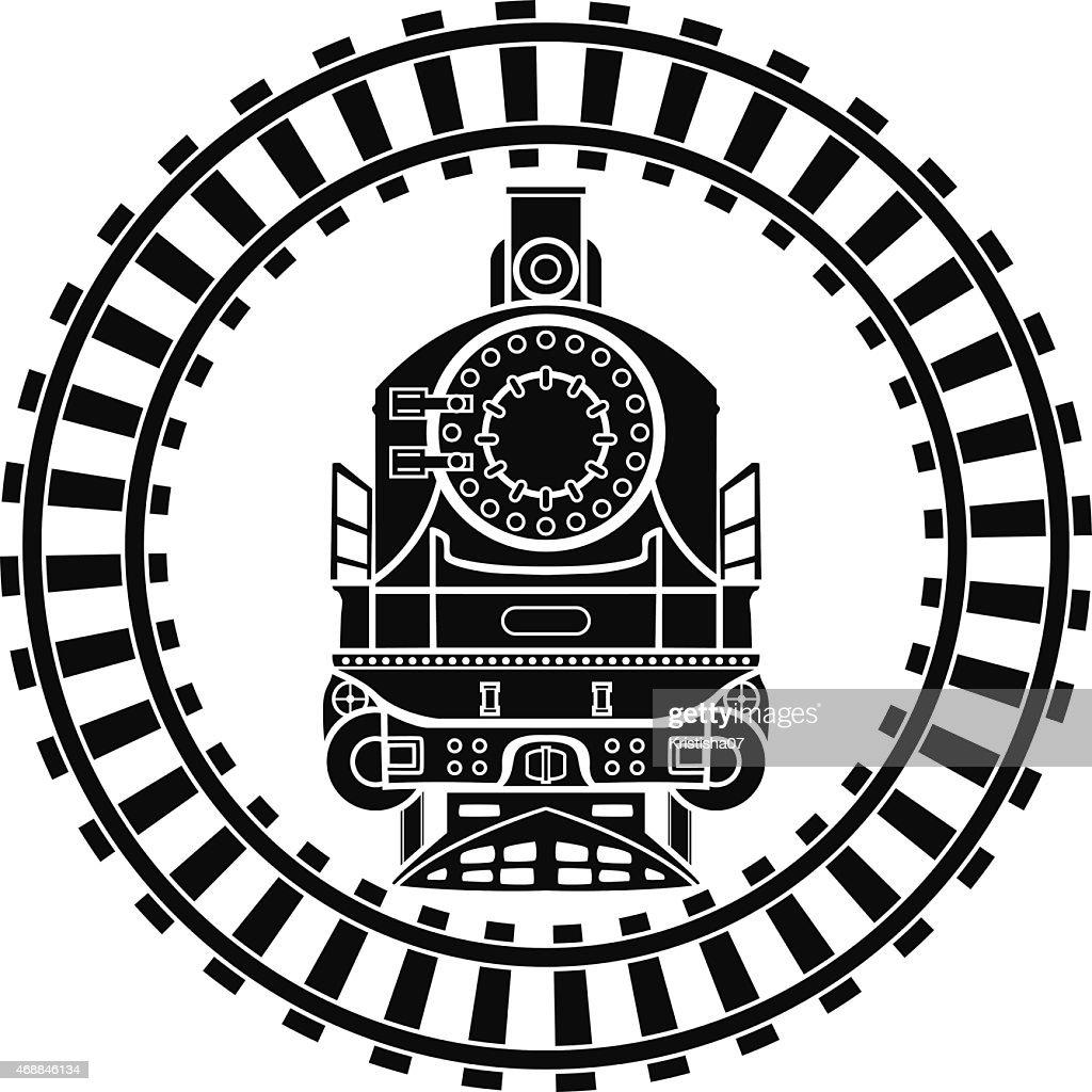 Old steam locomotive railway frame