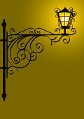 Old Street Lamp Wall Lantern