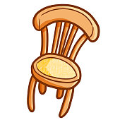 Old style wooden chair