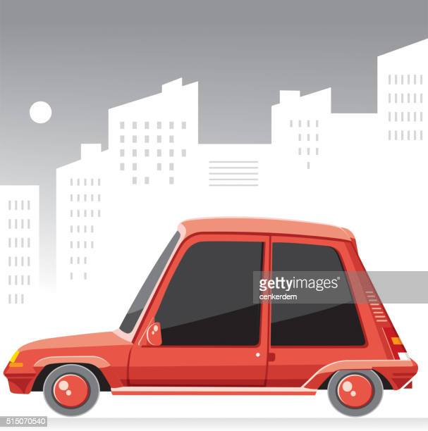 old sweet car - hatchback stock illustrations, clip art, cartoons, & icons