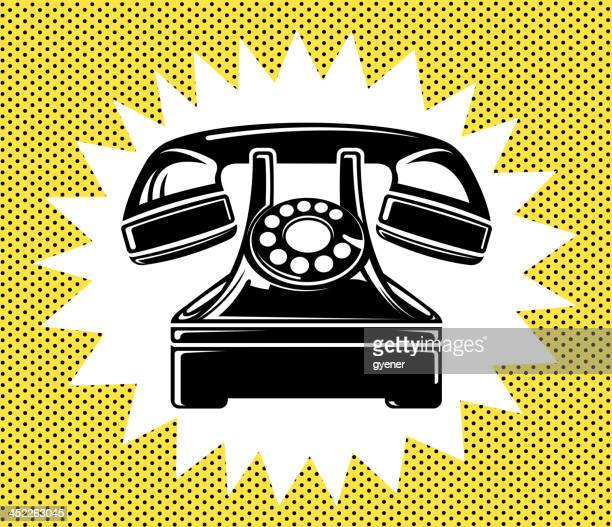 old telephone - cable stock illustrations, clip art, cartoons, & icons