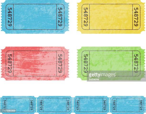 old tickets - raffle stock illustrations