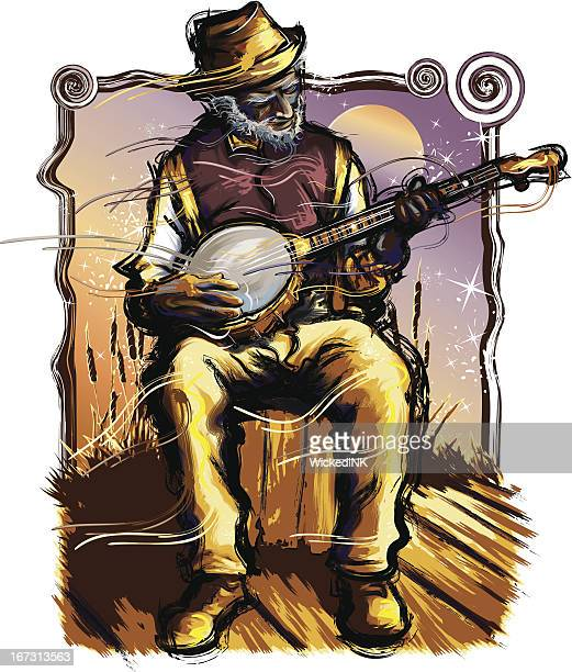 Old Time Music - Banjo Player