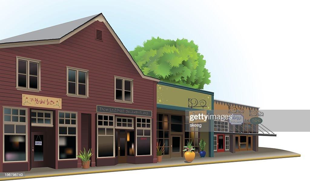 Old Town Shops : Vector Art